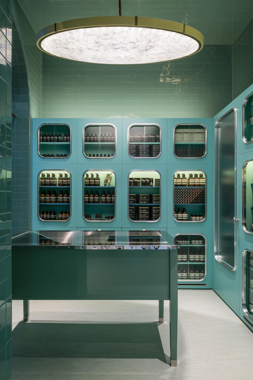 aesop store by dimorestudio references italian bottegas in