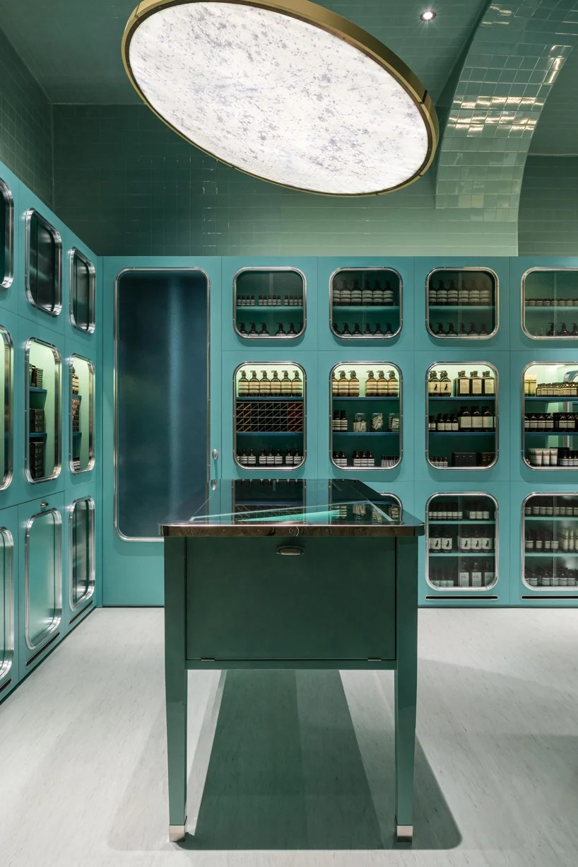 aesop store by dimorestudio references italian bottegas in milan