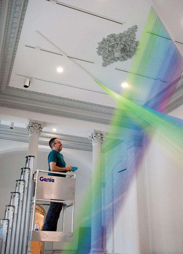 Gabriel Dawe Weaves 60 Miles Of Rainbow Thread Renwick