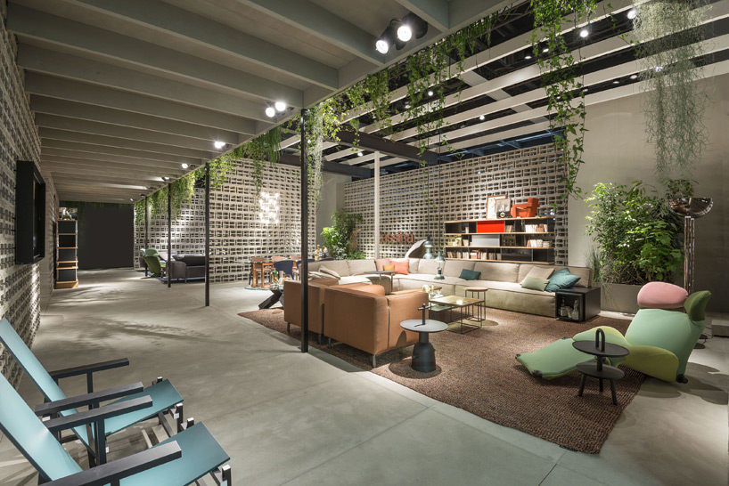 patricia urquiola references rietveld pavilion in cassina stand design at imm cologne