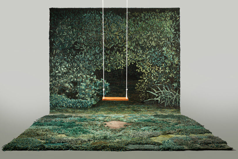 alexandra kehayoglou handtufts carpeted pastorial landscapes of sublime realities
