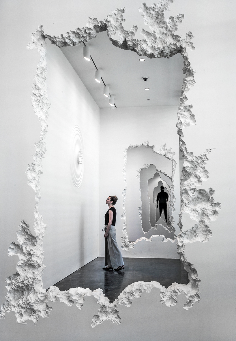 daniel arsham carves 300 foot wall excavation through SCAD museum of art