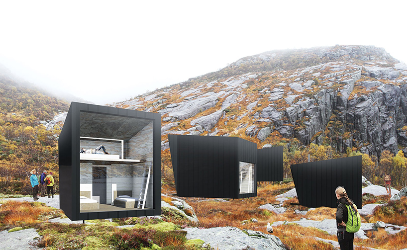 KOKO architects plans nye skpet mountain lodges in norway