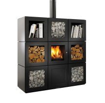 Philippe Starck' Speetbox Wood Stove System Conceived