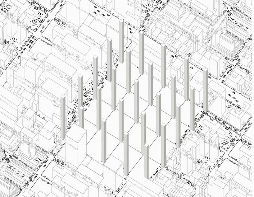 urban matrix reconsiders mega-block infrastructure at