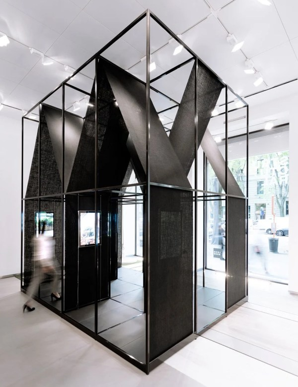 Set Architects Wraps Steel-framed Installation With Black