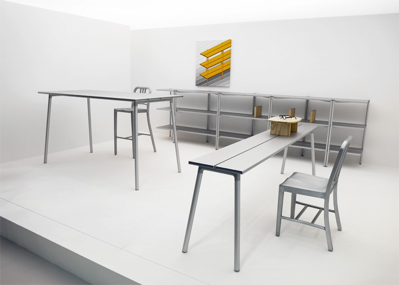 emeco presents tables for the first time with run