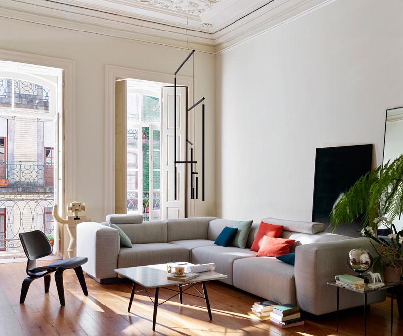 vitra sofa modular tan grey carpet jasper morrison collection for introduces all ...