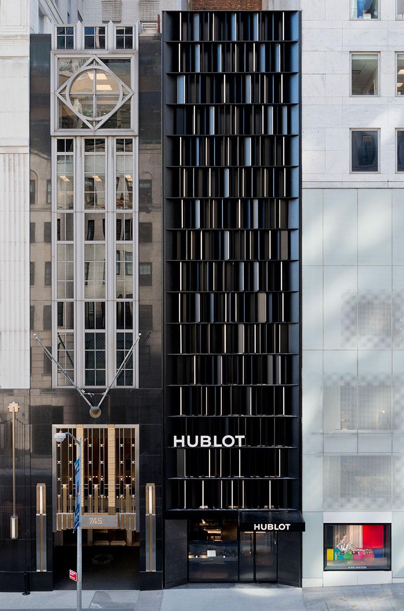 peter marino opens hublot flagship store in new york