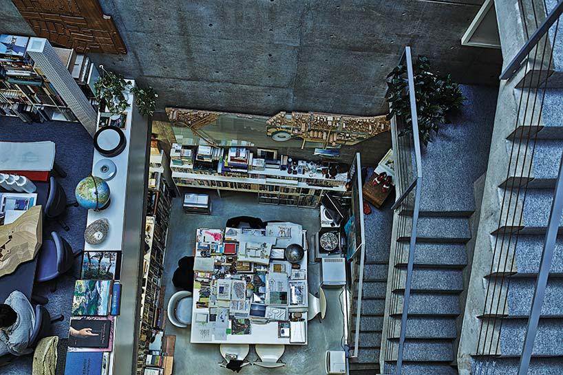 inside tadao andos selfbuilt studio in osaka