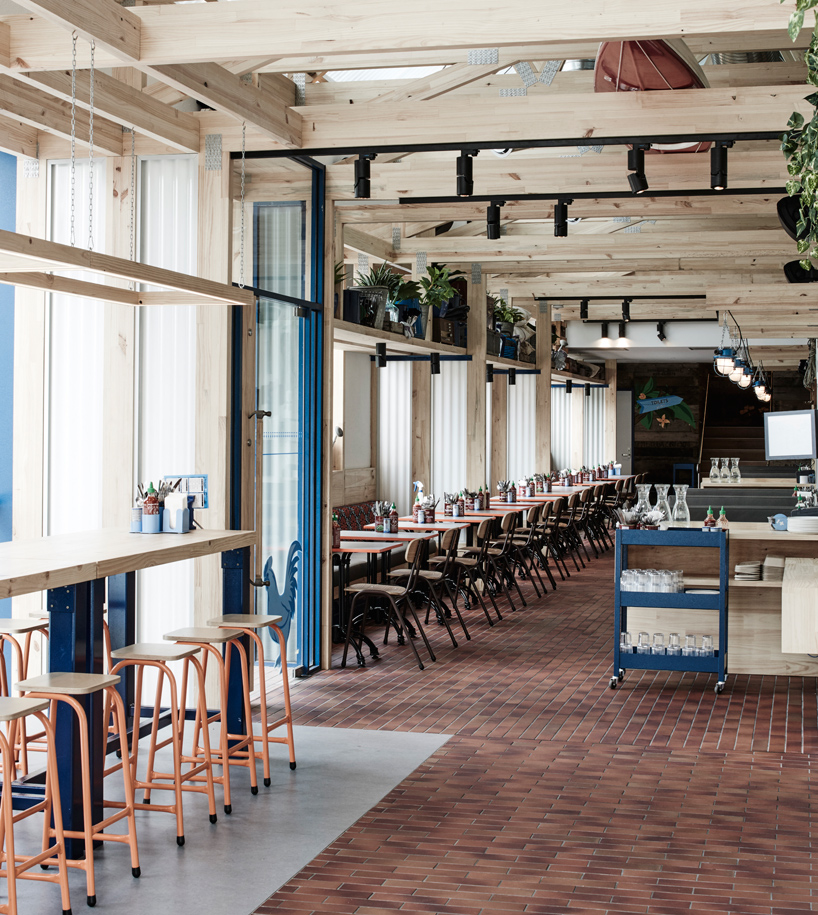 Exposed Timber Frame Highlights Interior Of Techns