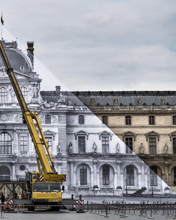 Jr Completes Monumental Anamorphic Artwork Louvre'