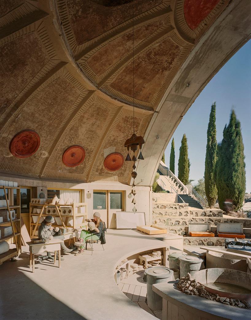 inside arcosanti paolo soleris experimental desert town