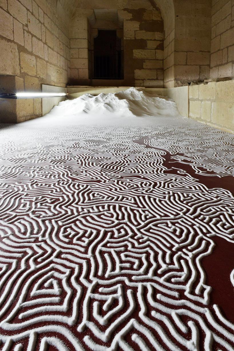 Motoi Yamamoto Meticulously Sculpts Salt Labyrinths Inside