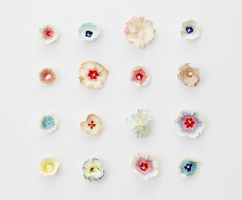 haruka misawa forms paper flowers from 'pencil' shavings