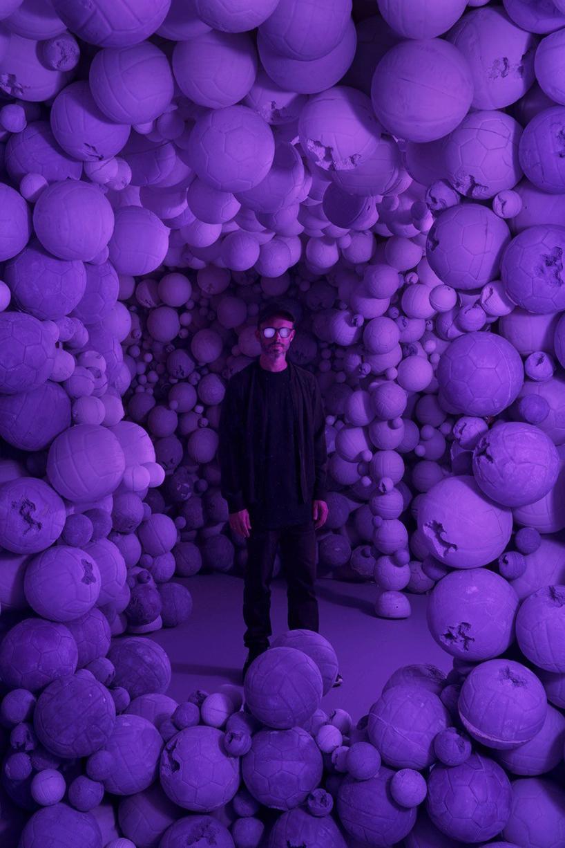 daniel arsham exhibits in color at galerie perrotin
