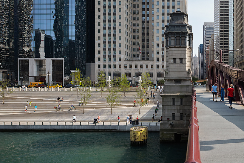 the chicago riverwalk reconnects the city with its waterfront