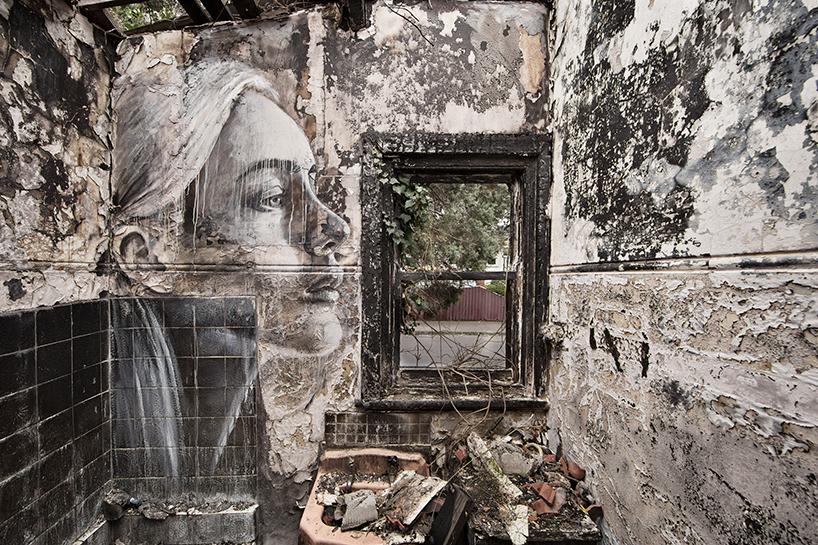 rones murals of beautiful women haunt wrecked buildings