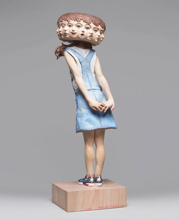 Wooden Glitch Sculptures Yoshitoshi Kanemaki