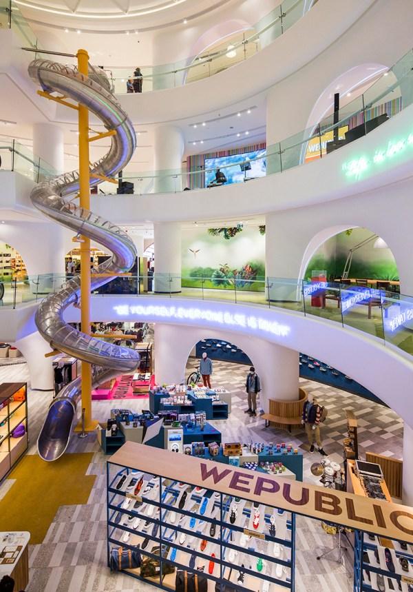 Gad Architecture Installs Spiral Slide Istanbul Mall