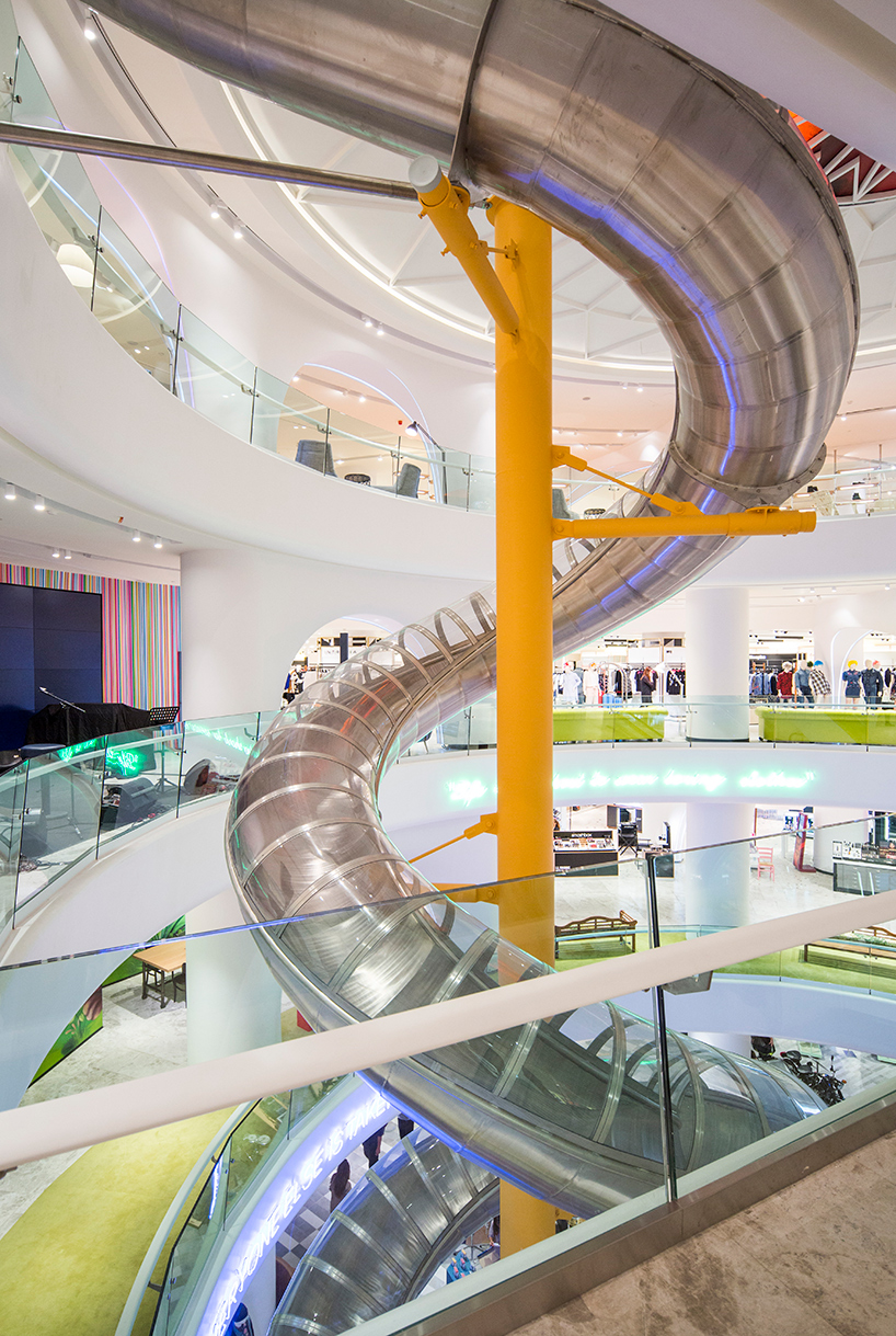 GAD architecture installs spiral slide inside istanbul mall