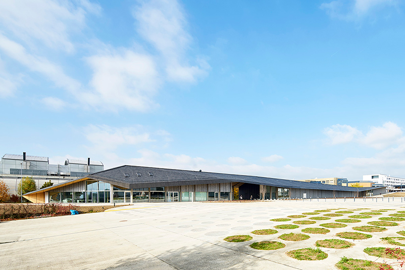 kengo kuma completes new artlab building for EPFL campus