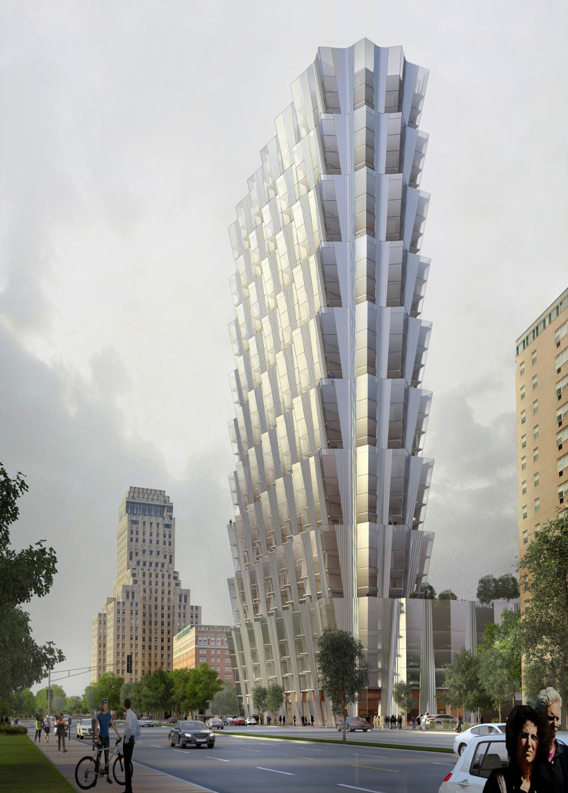 studio gang plans one hundred apartment tower in st louis