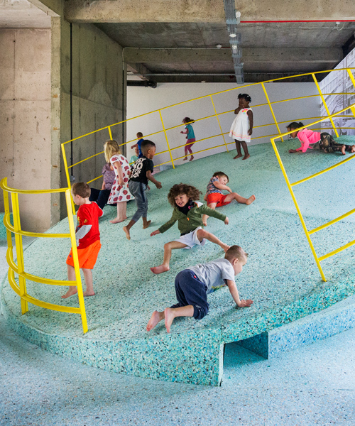 assembles brutalist playground at the vitra design museum
