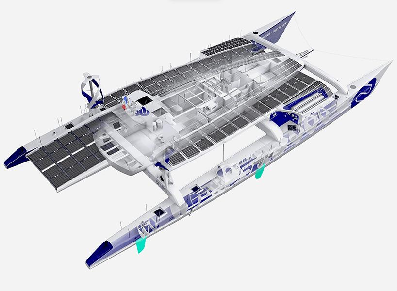 Sun Wind Hydrogen To Power Energy Observer Boat