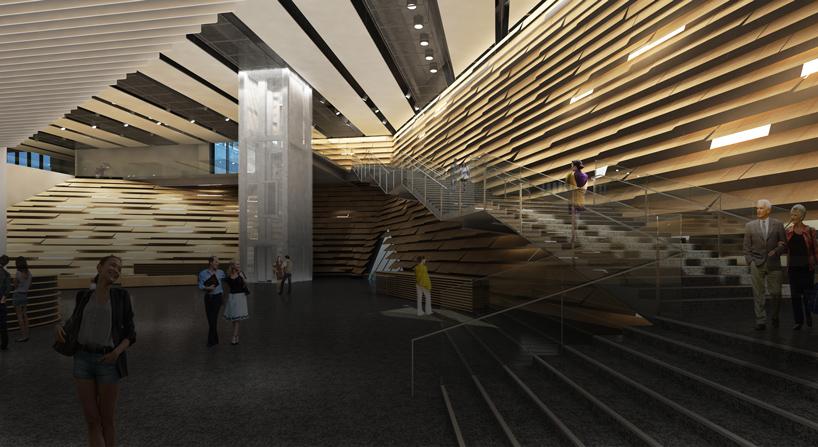 kengo kumas VA dundee design museum takes shape
