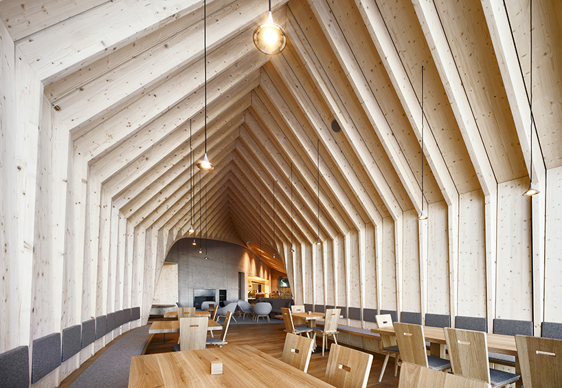 Peter Pichler Completes Wood Wrapped Mountain Restaurant In The Italian Alps