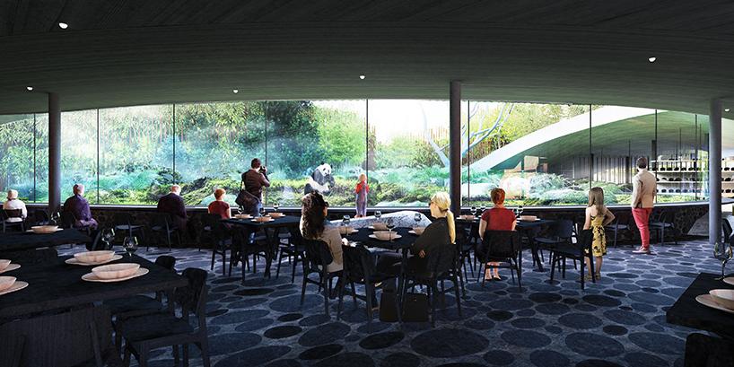 BIG plans yin and yang panda house for copenhagen zoo