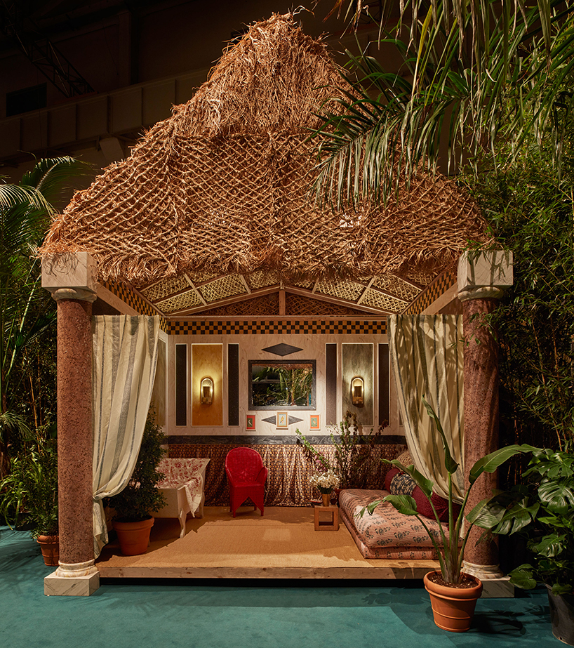 Corian cabana club features multicultural path into maximalism