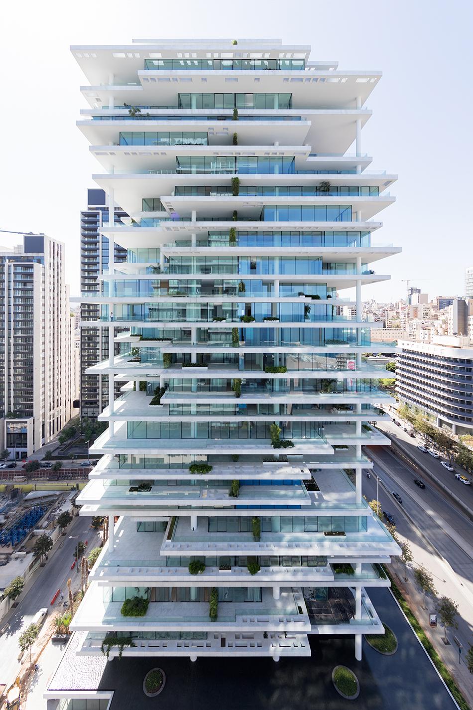 herzog  de meuron stacks beirut terraces in lebanon