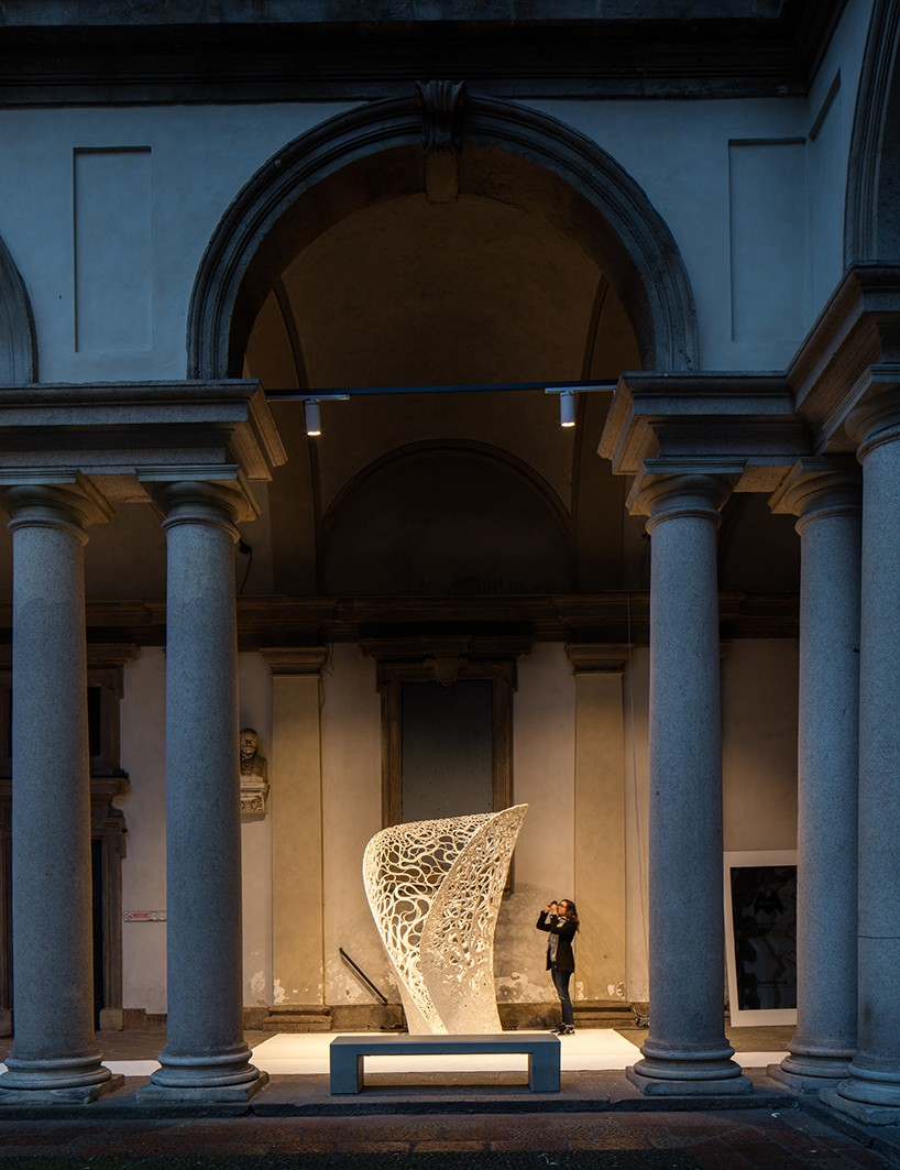 zaha hadid architects 3D prints thallus experimental structure in milan
