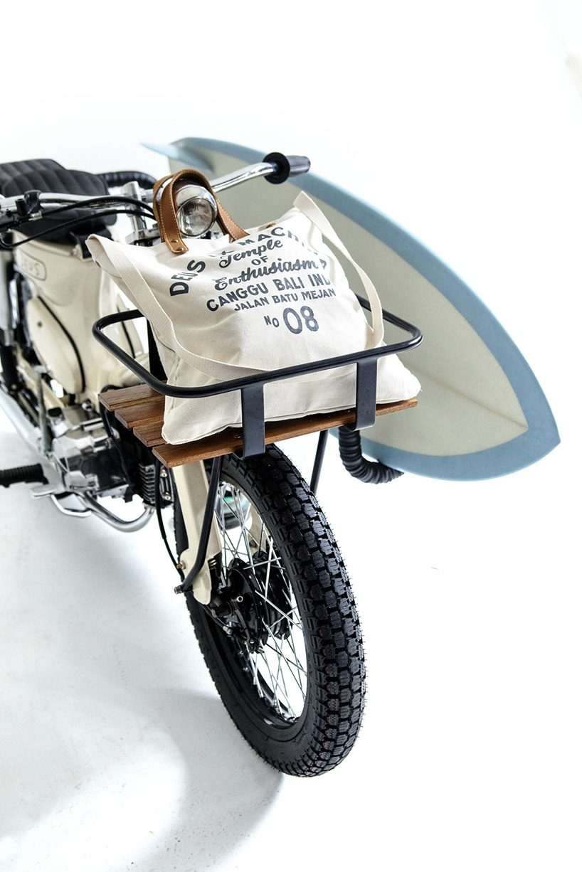 The Deus Sea Sider Custom Bike Is 70 S Super Cub For Surfers