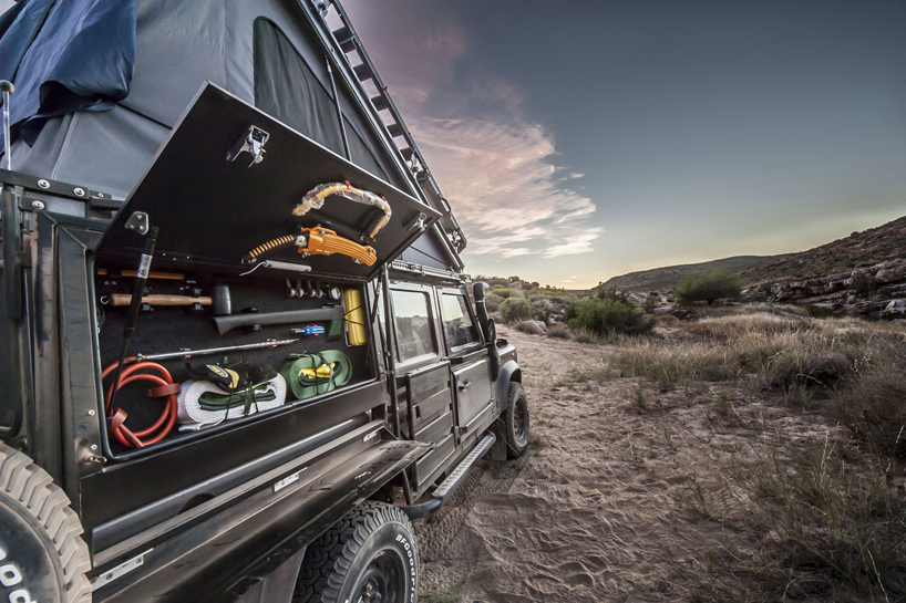 The Land Rover Icarus Rooftop Camper By Alu Cab