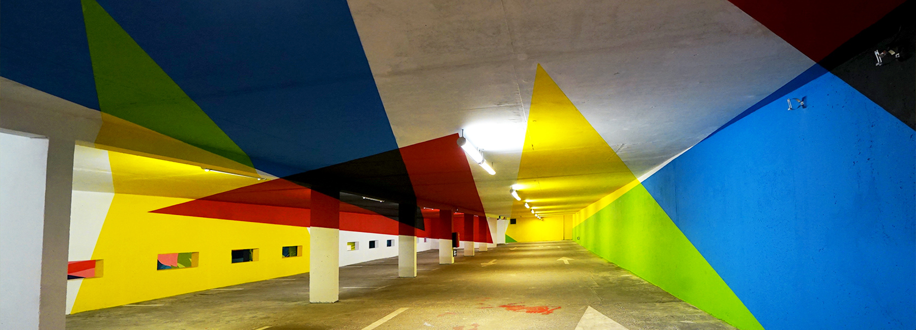 elian chali turns a parking lot in france into an