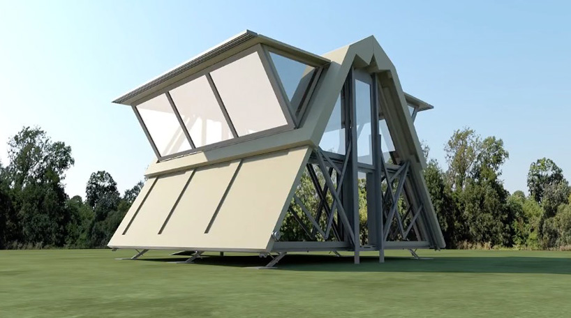 Ten Fold S Houses Unfold In Eight Minutes At The Push Of A