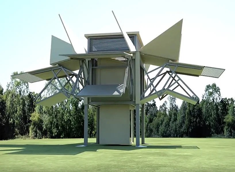 ten folds houses unfold in eight minutes at the push of a button