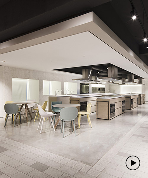 kitchen showrooms wilsonart cabinets lukstudio s culinary village reinvents the experience of conventional
