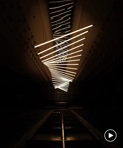 kinetic lighting installation designed by WHYIXD hovers
