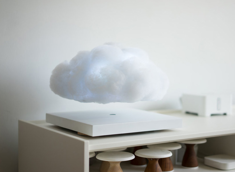 wooden play kitchen design your own lowes this floating cloud lamp magnetically levitates and pulses ...