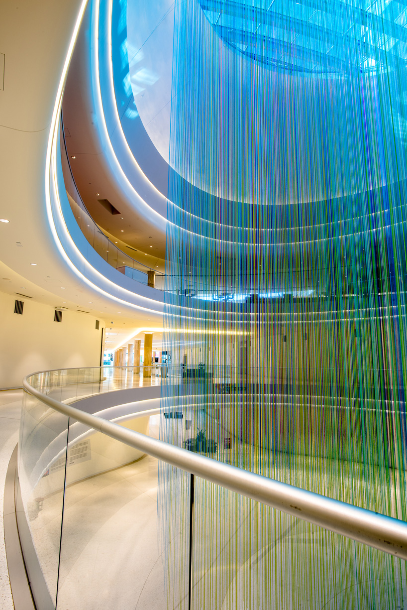 Hottea Suspends 13 000 Strands Of Yarn In Mall Of America