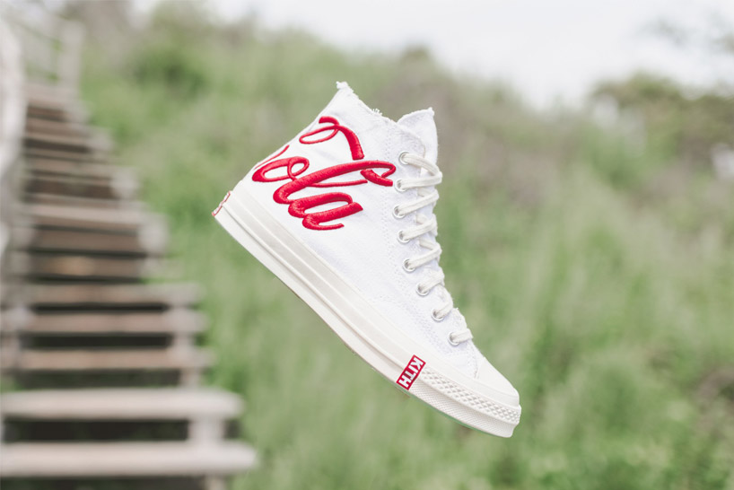 kith x cocacola x converse limited to 1000 white denim