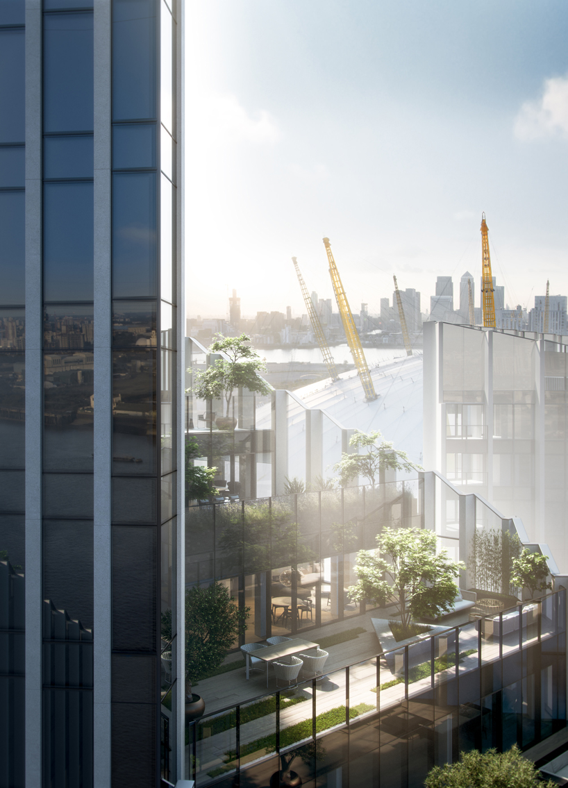 SOM envisions upper riverside towers for greenwich peninsula