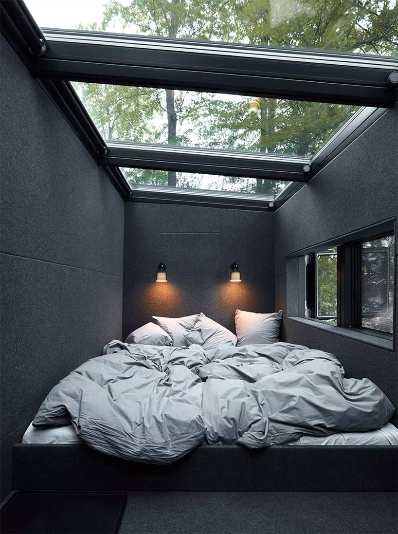 you can now spend the night at the vipp shelter hotel in the swedish forests