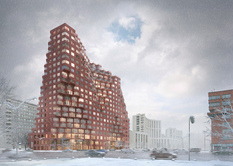 MVRDVs mixeduse silhouette building will feature red