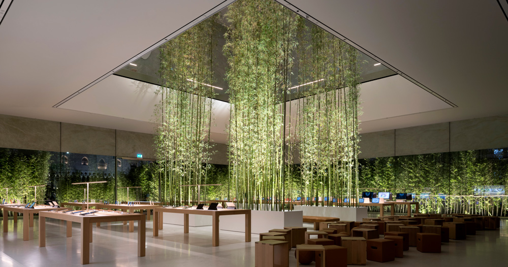 apple store in macau conceived as welcoming paper lantern