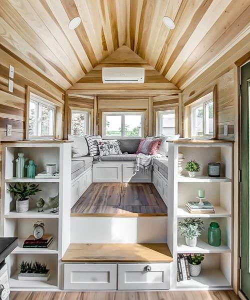 extremely functional tiny homeonwheels packs a large social area in only 22 sqm
